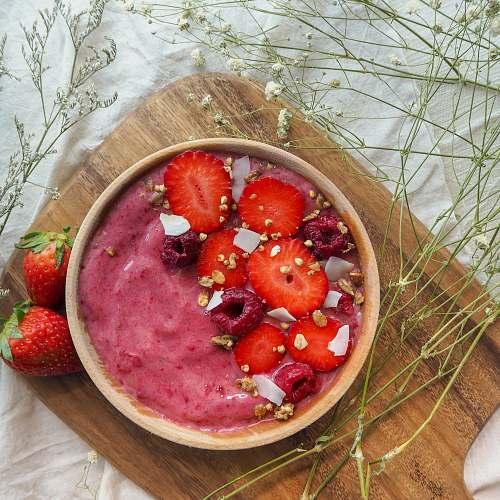 food strawberries in bowl fruit