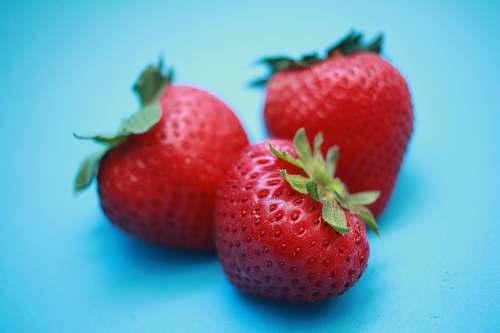 food three red strawberries fruit