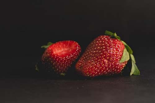 fruit two strawberries food