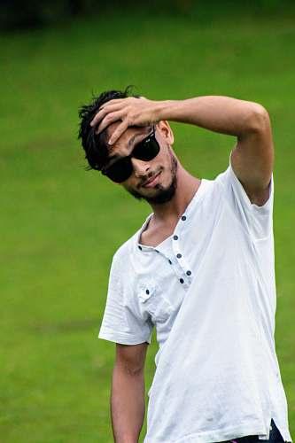 accessory man wearing white shirt sunglasses