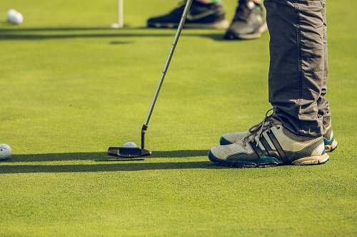 clothing two person playing golf footwear