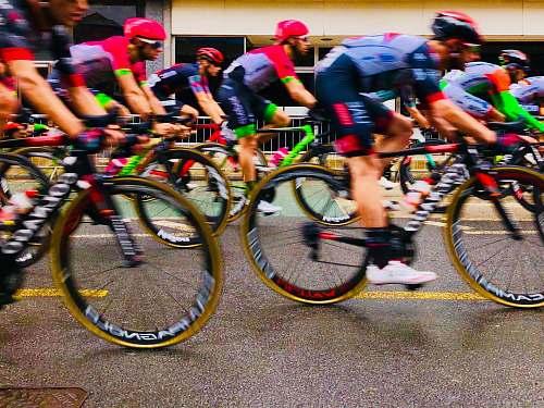 bike people riding bikes on road during daytime transportation