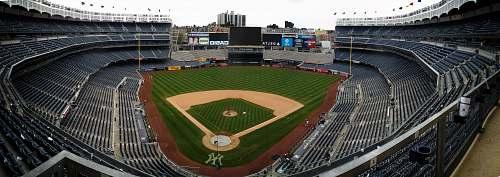 sport baseball field with empty seats sports