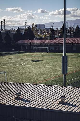 field soccer field grey