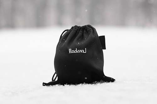 black-and-white black and white Lenshall drawstring bag apparel