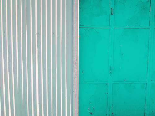 downtown teal painted wall blue