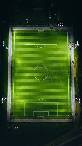 kuantan bird's-eye view photography of green soccer field with lights malaysia