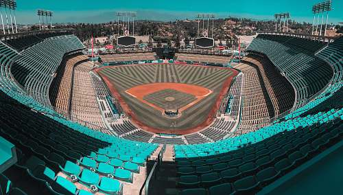 people architectural photography of baseball stadium building