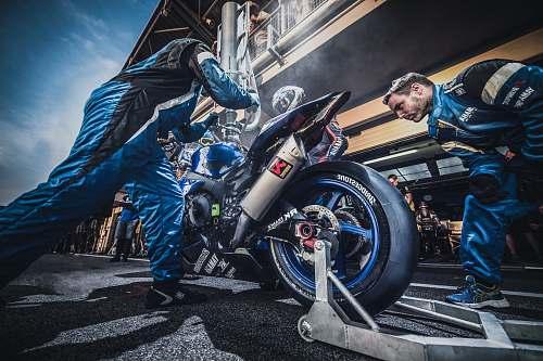 machine blue sport bike wheel