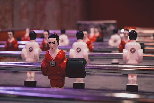 person foosball table people