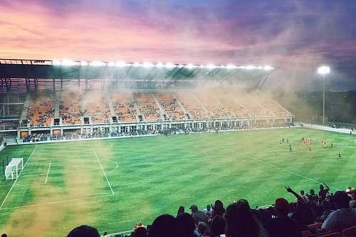 field green soccer field building