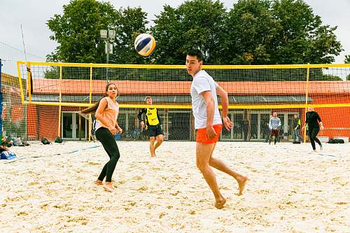 person group of people playing volleyball apparel