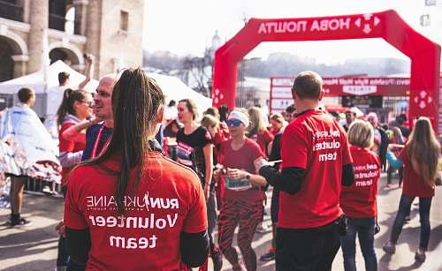 person men and women in a fun run activity apparel