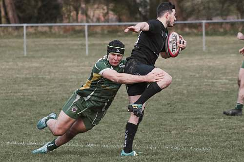 apparel men playing rugby game person
