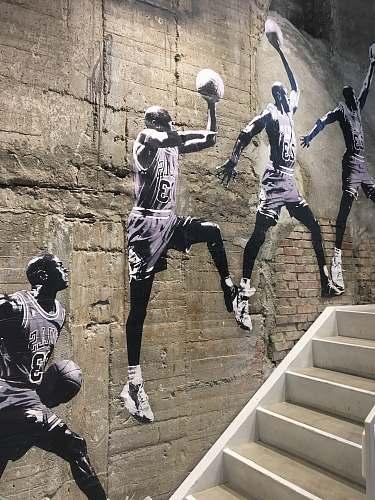 people painting of Michael Jordan person