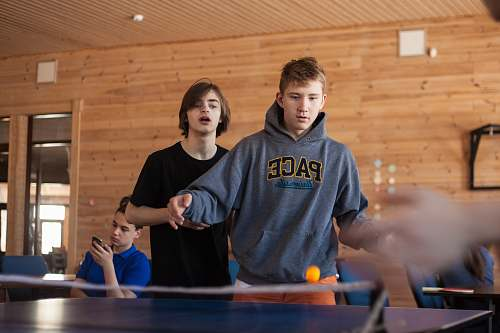 sport people playing table tennis people