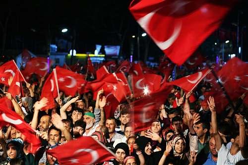 person people waving flag of Turkey people