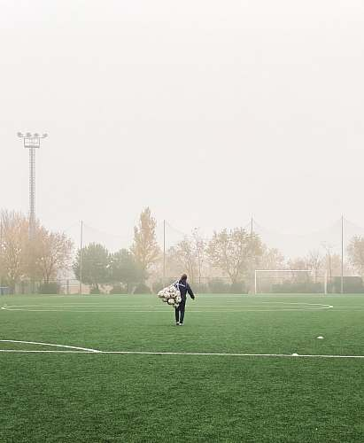 person person wearing black jacket field