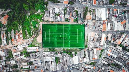 landscape aerial photography of stadium outdoors