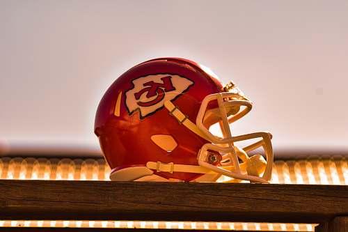 human red Kansas City Chiefs helmet helmet