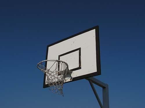 basketball white and black basketball goal basketball court