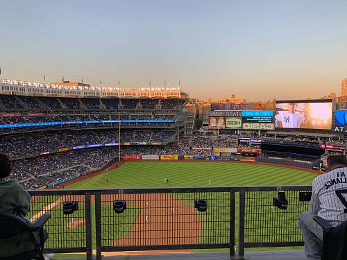 human baseball field building