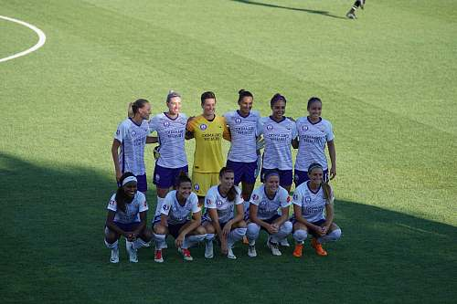 people female soccer players taking photo human