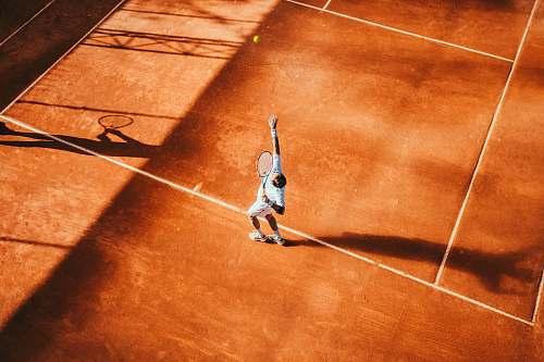 human man playing tennis people