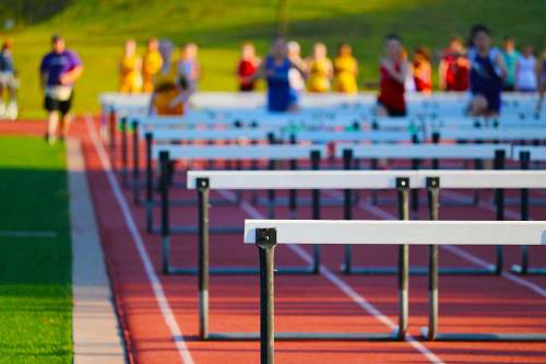 human running jump obstacle hurdle