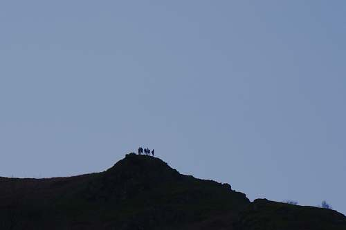 nature silhouette of mountain hill outdoors