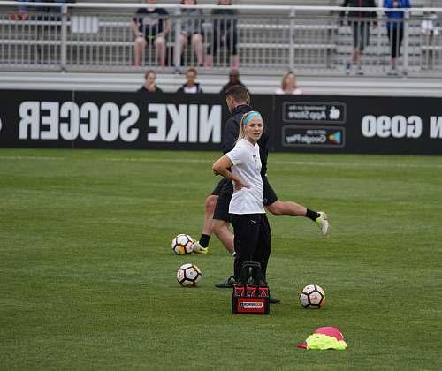 human woman playing soccer people