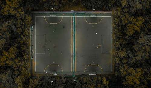 intersection soccer field landscape