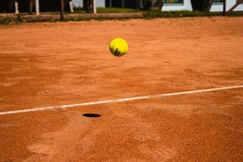 ball tennis ball bouncing on ground austria