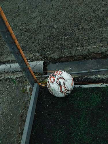 ball white and orange soccer ball football