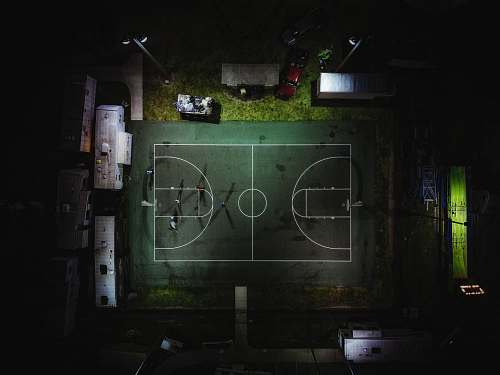 naples aerial photography of green basketball court united states