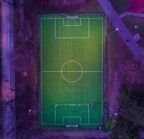 green aerial view of tennis court warsaw