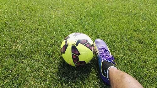 football person kicking soccer ball soccer