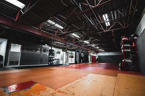 flooring red metal ceiling frame floor