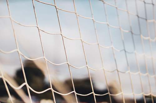 grey white mesh net football