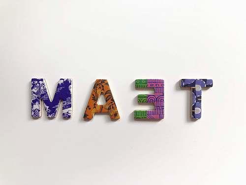 alphabet team freestanding letters symbol