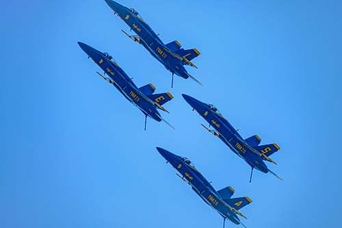 aircraft 4 blue jet planes photo vehicle