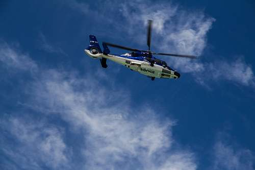 photo helicopter low-angle photography of white and blue helicopter transportation free for commercial use images