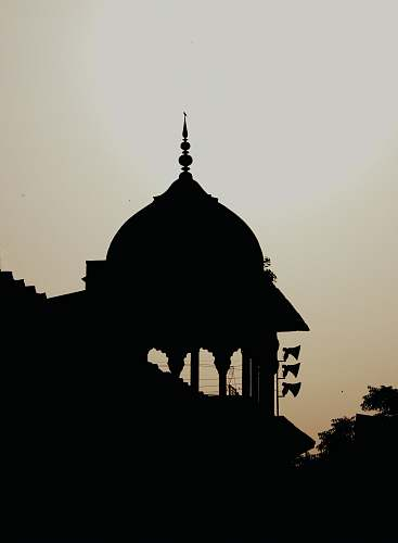 building mosque silhouette dome
