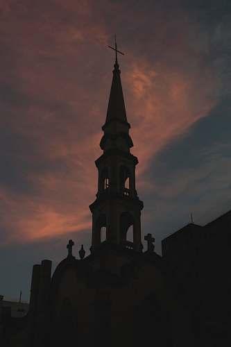 building white church spire