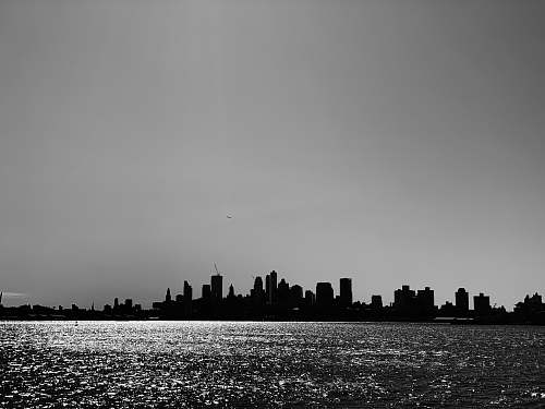 silhouette landscape photography of city nature
