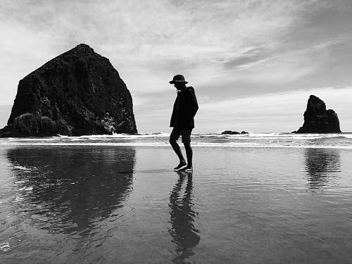 nature photo shoot of woman on seashore ocean