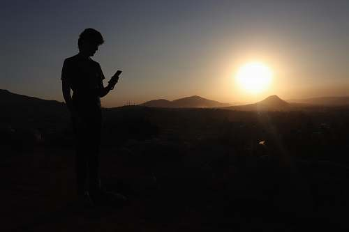 person silhouette photo of man nature