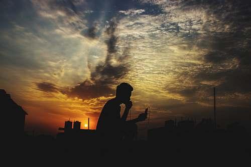 person silhouette photo of person nature