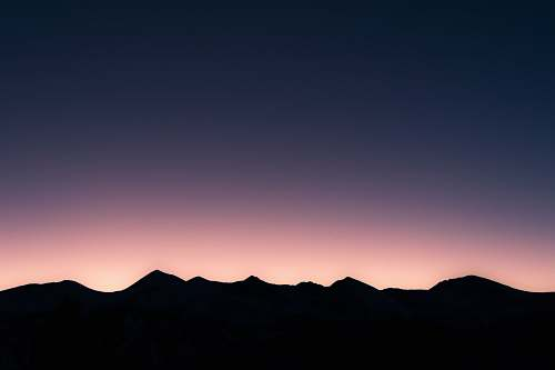 nature silhouette of mountain mountains