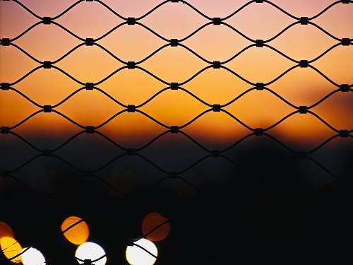 sunset black fence illustration silhouette